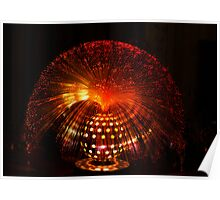 Red Fibre Optic Lamp Poster
