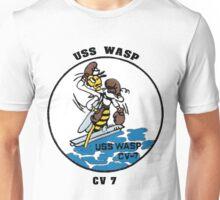 USS Wasp (CV-7) Crest Unisex T-Shirt