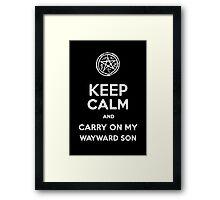 Keep Calm - Devil's Trap Framed Print