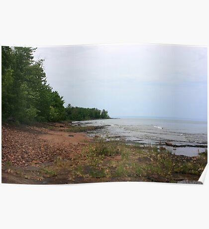 lake superior shoreline (point abby) Poster