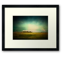 Lake Rainbow Framed Print