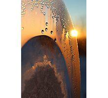 Sunrise Through Condensation Photographic Print