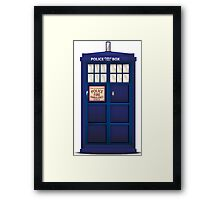 British Police Box Framed Print