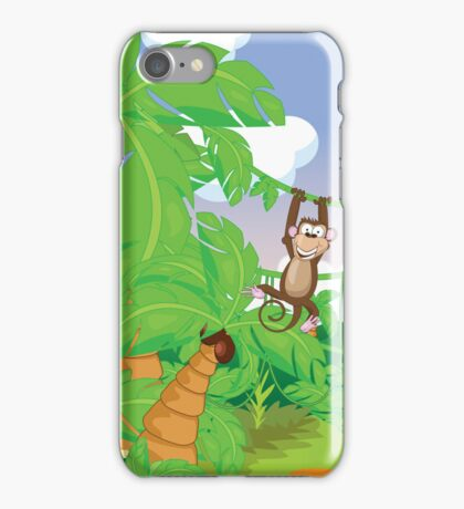 Monkey in the Rainforest iPhone Case/Skin