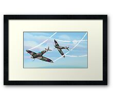 WW2 Vintage British fighter Aircraft Framed Print