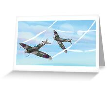 WW2 Vintage British fighter Aircraft Greeting Card