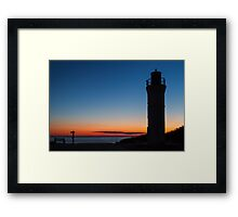 Sunset Lighthouse - Empire, Michigan Framed Print