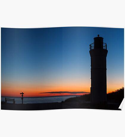 Sunset Lighthouse - Empire, Michigan Poster