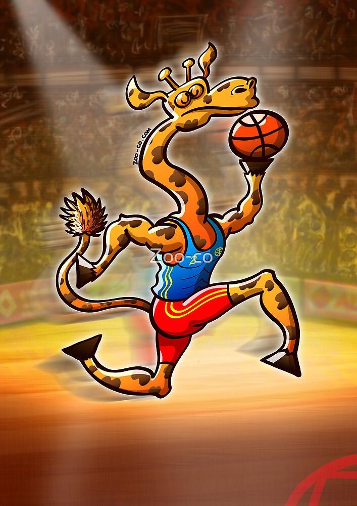 Olympic Basketball Giraffe by Zoo-co