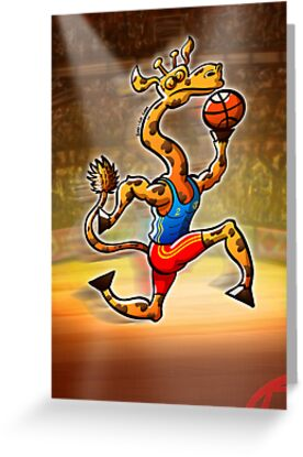 Olympic Basketball Giraffe by Zoo-co