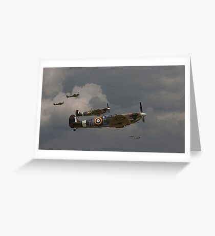 Spitfire - 'Buster' Greeting Card