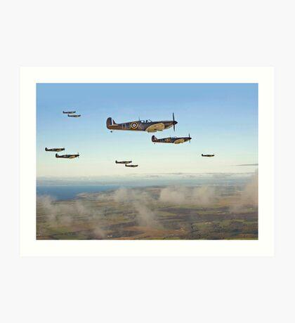 Spitfire - Squadron Inbound  Art Print