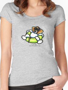 Cool Dog Beagle Women's Fitted Scoop T-Shirt