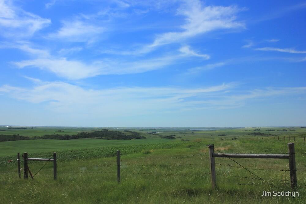 Alberta prairie and sky by Jim Sauchyn