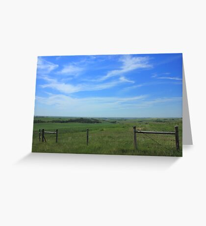 Alberta prairie and sky Greeting Card