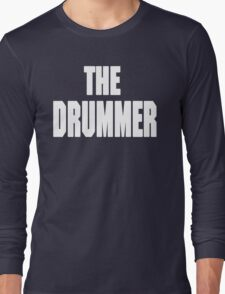 THE DRUMMER (DAVE GROHL / TAYLOR HAWKINS) WHITE Long Sleeve T-Shirt