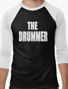 THE DRUMMER (DAVE GROHL / TAYLOR HAWKINS) WHITE Men's Baseball ¾ T-Shirt
