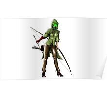 archer  girl withe Poster