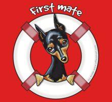 Miniature Pinscher :: First Mate by offleashart