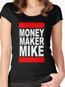 Money Maker Mike Women's Fitted Scoop T-Shirt