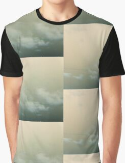 green skies alien eyes - tile design Graphic T-Shirt