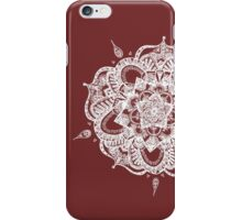 White and Gray Mandala iPhone Case/Skin