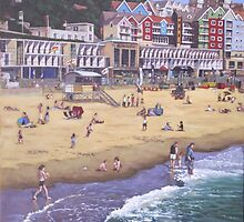 Bournemouth boscombe beach sea front by martyee