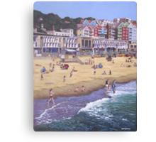 Bournemouth boscombe beach sea front Canvas Print