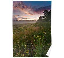 Misty Evening, Suffolk Poster
