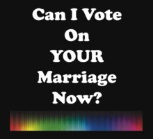 Can I Vote on Your Marriage Now? by Chris  Bradshaw