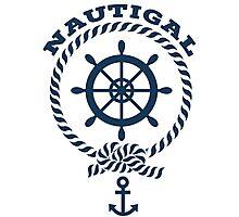 Nautigal Nautical T Shirt Photographic Print