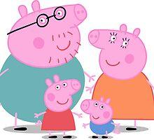 Peppa Pig Family by V-aDool