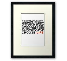 Choose Gigs Framed Print