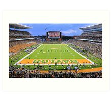 Baylor Touchdown Celebration Art Print