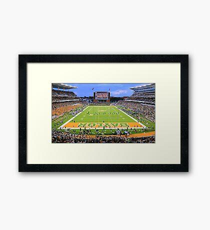 Baylor Touchdown Celebration Framed Print