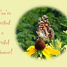 Bridal Shower Invitation - American Lady Butterfly by MotherNature