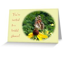 Bridal Shower Invitation - American Lady Butterfly Greeting Card