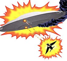 U.F.O vs Jet Battle by funkensteiner
