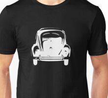 Volkswagen Beetle Bug Rear Stencil White Unisex T-Shirt