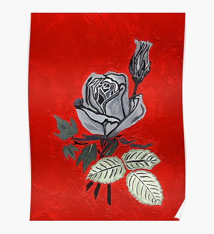 Shades of Gray with Roses Poster