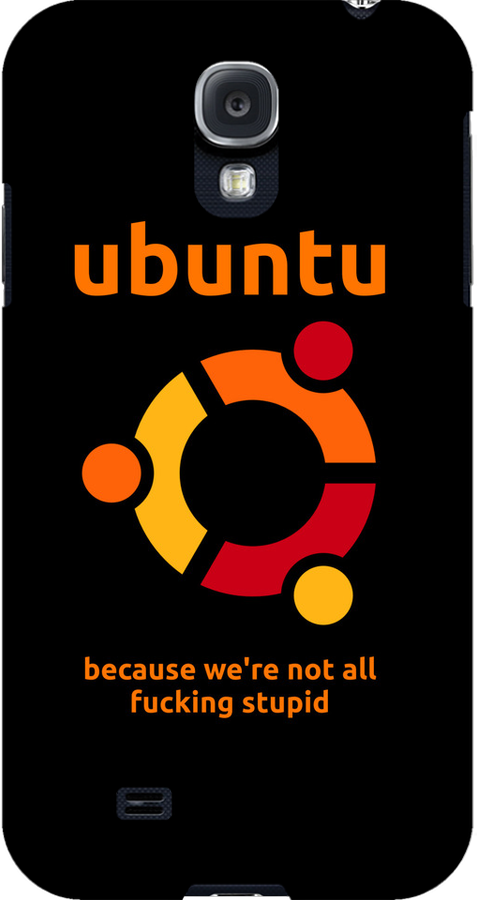 Ubuntu - because we're not all fucking stupid by Buddhuu