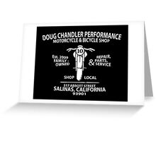 Doug Chandler Performance: Motorcycle (White) Greeting Card