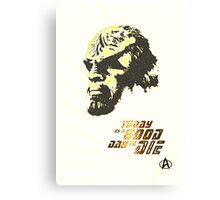 Worf - A good day  Canvas Print