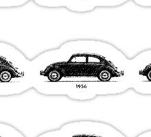VW Bug History Graphic Pen Sticker