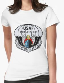 USAF Para Rescue Special Forces Logo Womens Fitted T-Shirt