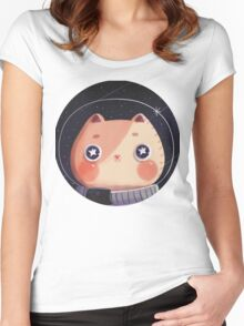 Cat Astro Women's Fitted Scoop T-Shirt