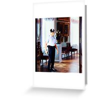 On Duty from The Watchman's Loneliness series Greeting Card