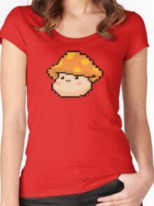 Maplestory Orange Mushroom Women's Fitted Scoop T-Shirt