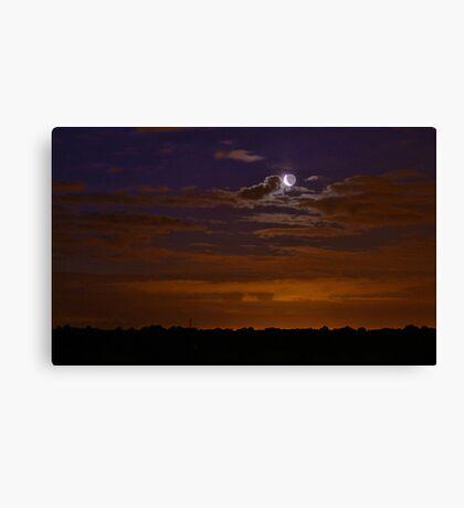 Moody lunar Canvas Print