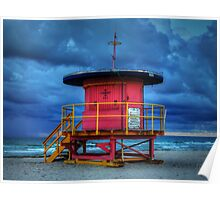 Miami - South Beach Lifeguard Stand 005 Poster